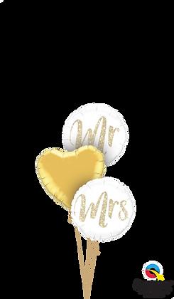 Mr & Mrs Glitter Triplet