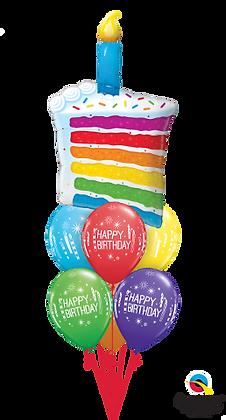 Rainbow Cake & Candle Luxury