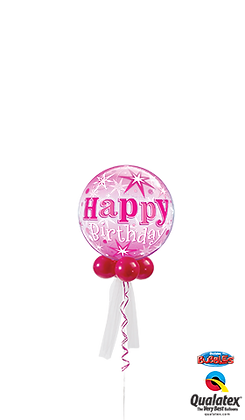 Birthday Pink Sparkle Bubble