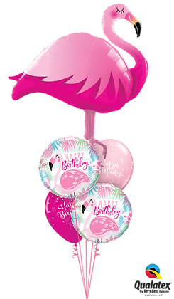 Pink Flamingo Birthday Staggered