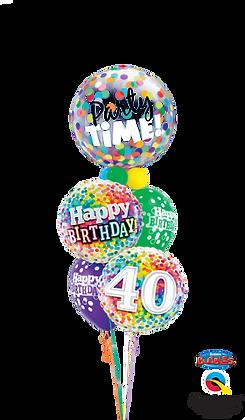 Birthday Confetti Bubble Staggered