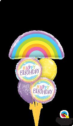 Rainbow Birthday Staggered