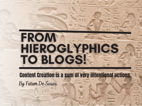From Hieroglyphics to Blogs!