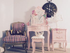 Decoración tonos rosa pastel