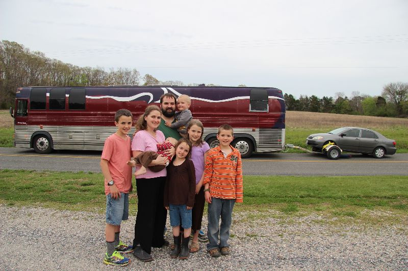 full time large family rv living