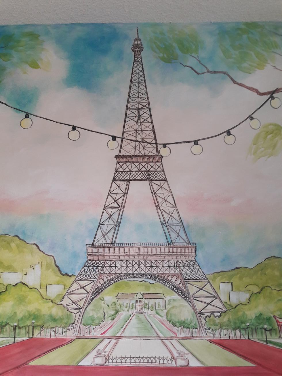 Illustrative Parisian Mural
