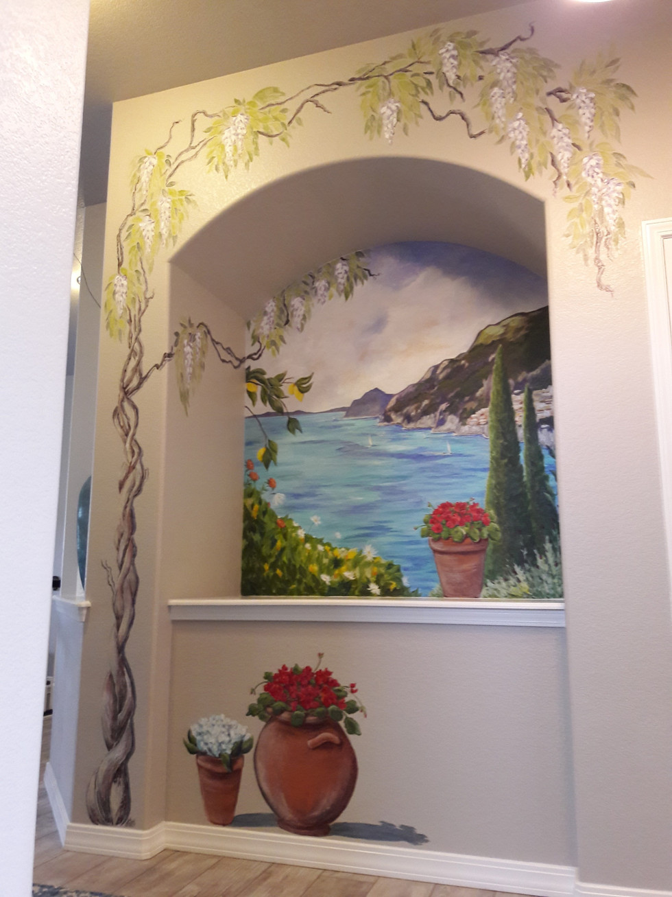 Amalfi Coast Mural
