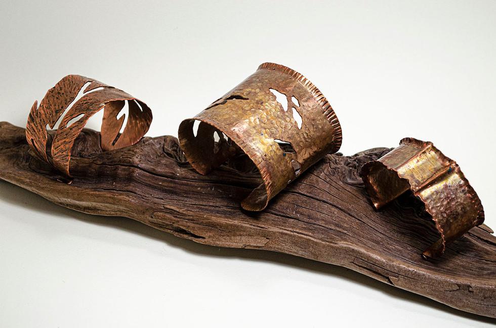 Three Copper Cuffs