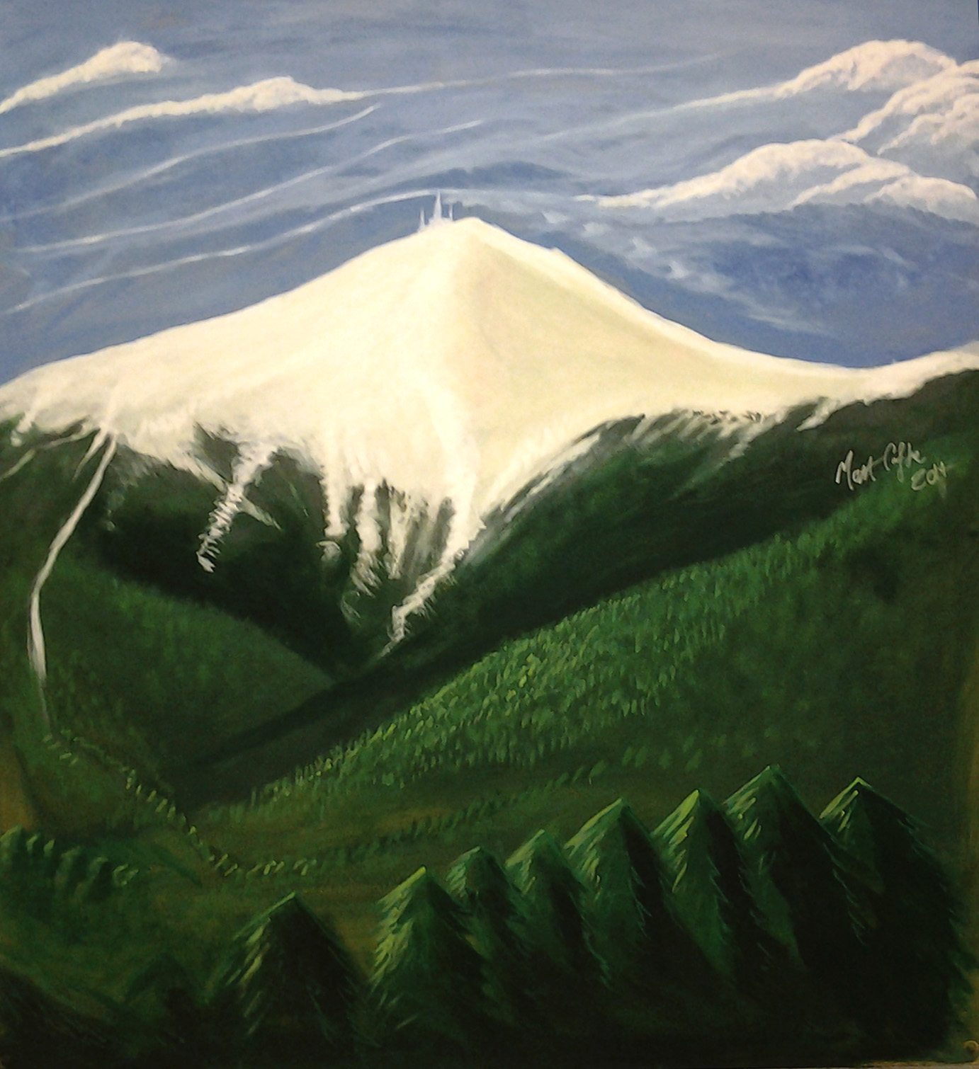Mt Washington NH, Acrylic on MDF