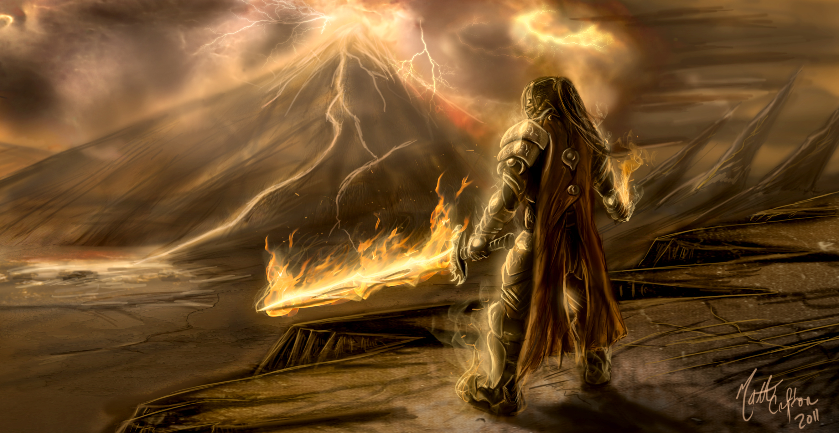 Surtyr, god of fire