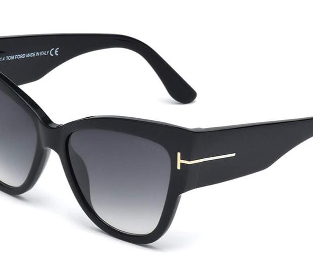 TOM FORD Anoushka Butterfly Sunglasses, Black