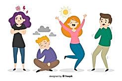 illustration-jeunes-differentes-emotions