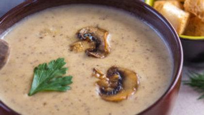 Roasted Gourmet Mushroom Soup