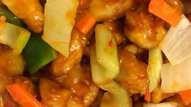 Golden Fried Sweet & Sour Pork (DF)
