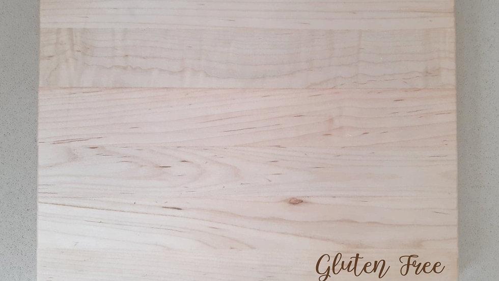 Gluten Free Engraved Cutting Board - Script