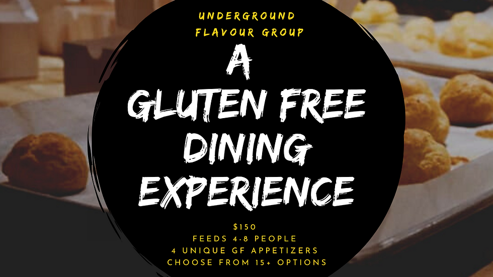 Underground Flavour Group - A Gluten Free Dining Experience