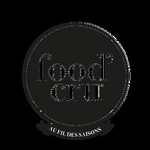 logo Food'cru, Shirley Evans, création, cartes de visite