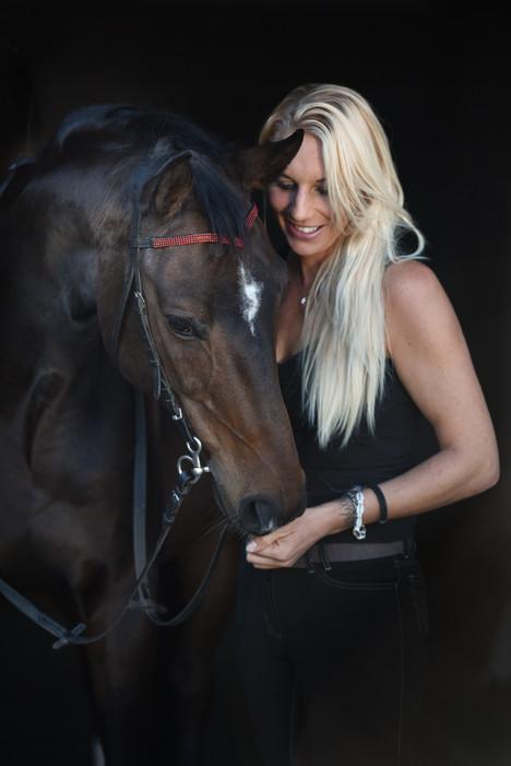 Mensch-Pferd Portrait