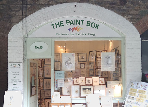 Shopfront of the Paint Box gallery, Ta