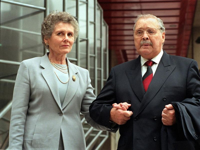 Greta Moran with her late husband Doug Moran in 2000.