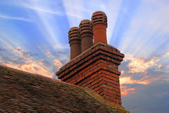 cottage chimney inverted stack with pots