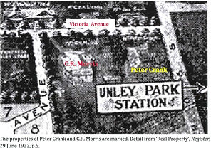 Unley Park, properties of Peter Crank an