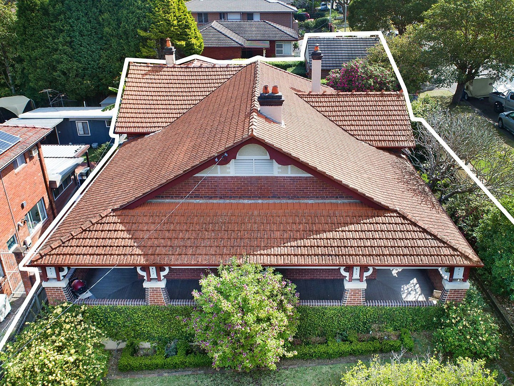 Bungalow roof line at 57 Kent Street, Epping NSW