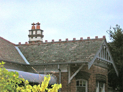 Randwick Queen Anne stucco chimney