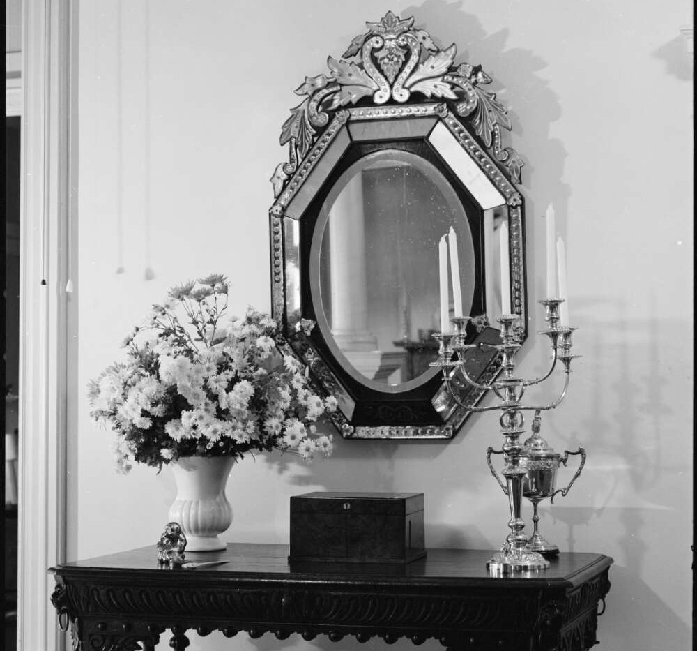 Hall mirror and candelabra at Belltrees