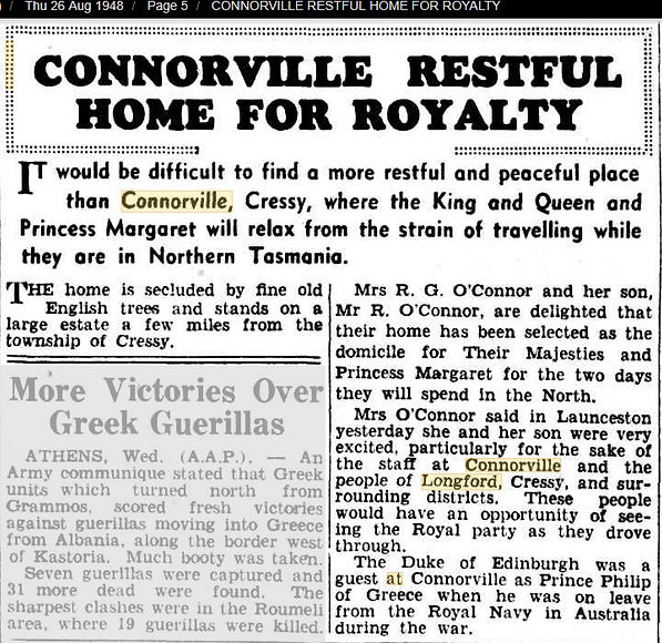 Connorville a Restful Home for Royalty -