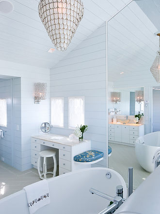 Light filled bathroom