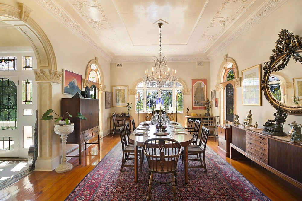 Grand dining room at 73 Bulkara Rd, Bellevue Hill