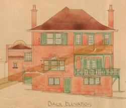 Elevation Makree House rear