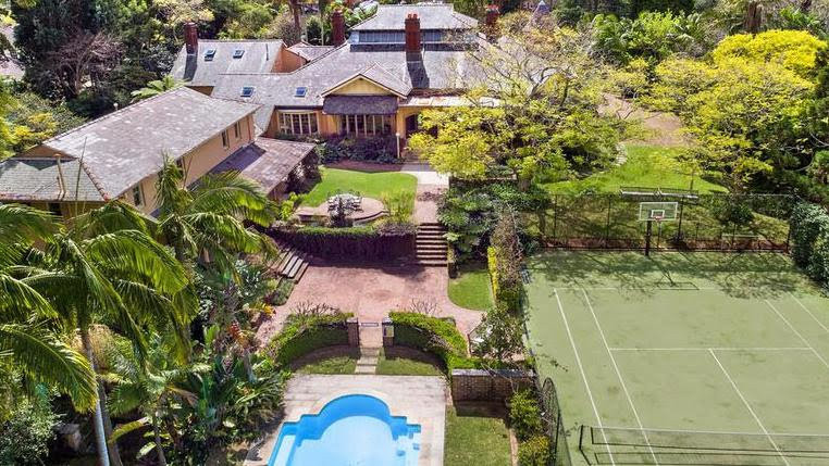 The grounds at Berith Park, in Wahroonga, include a pool, a tennis court and a golf driving range.