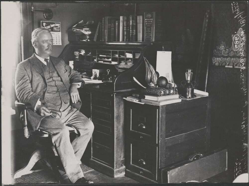 H.L. White at Belltrees, Scone, N.S.W.,
