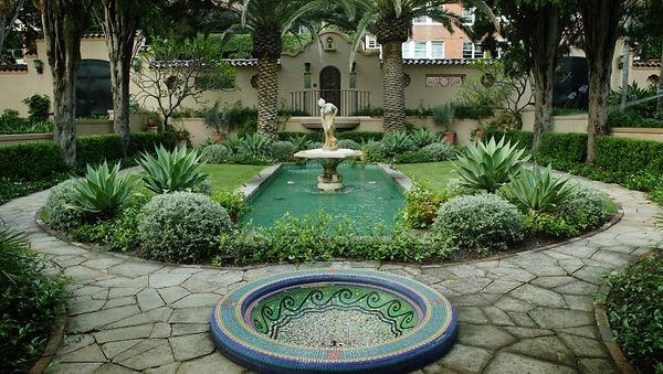 Circular garden at Boomerang, Elizabeth Bay