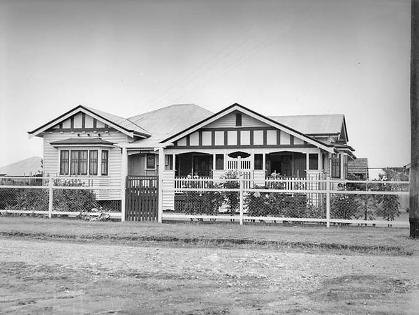 A single-storey Queenslander ca. 1935.
