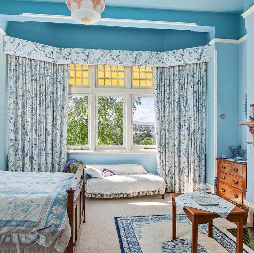 Bedroom with bay window