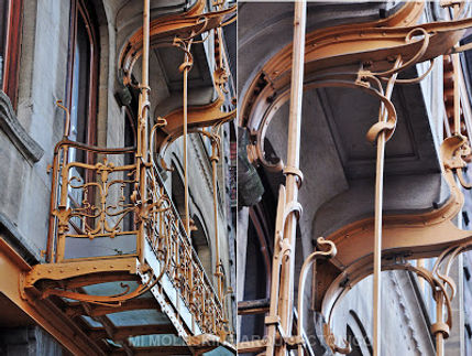 Horta's house-studio. Detail