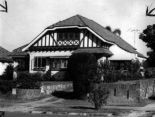 Suburban house, Ascot in Tudor Style. (Source: SLQ)