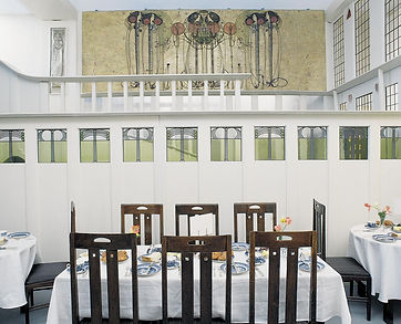 Mackintosh Ladies' Luncheon Room from Miss Cranston's Ingram Street Tearooms