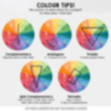 Colour Design Tips for colour wheel