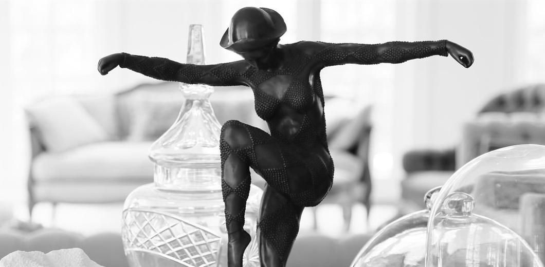 Milton Park dancer-statue