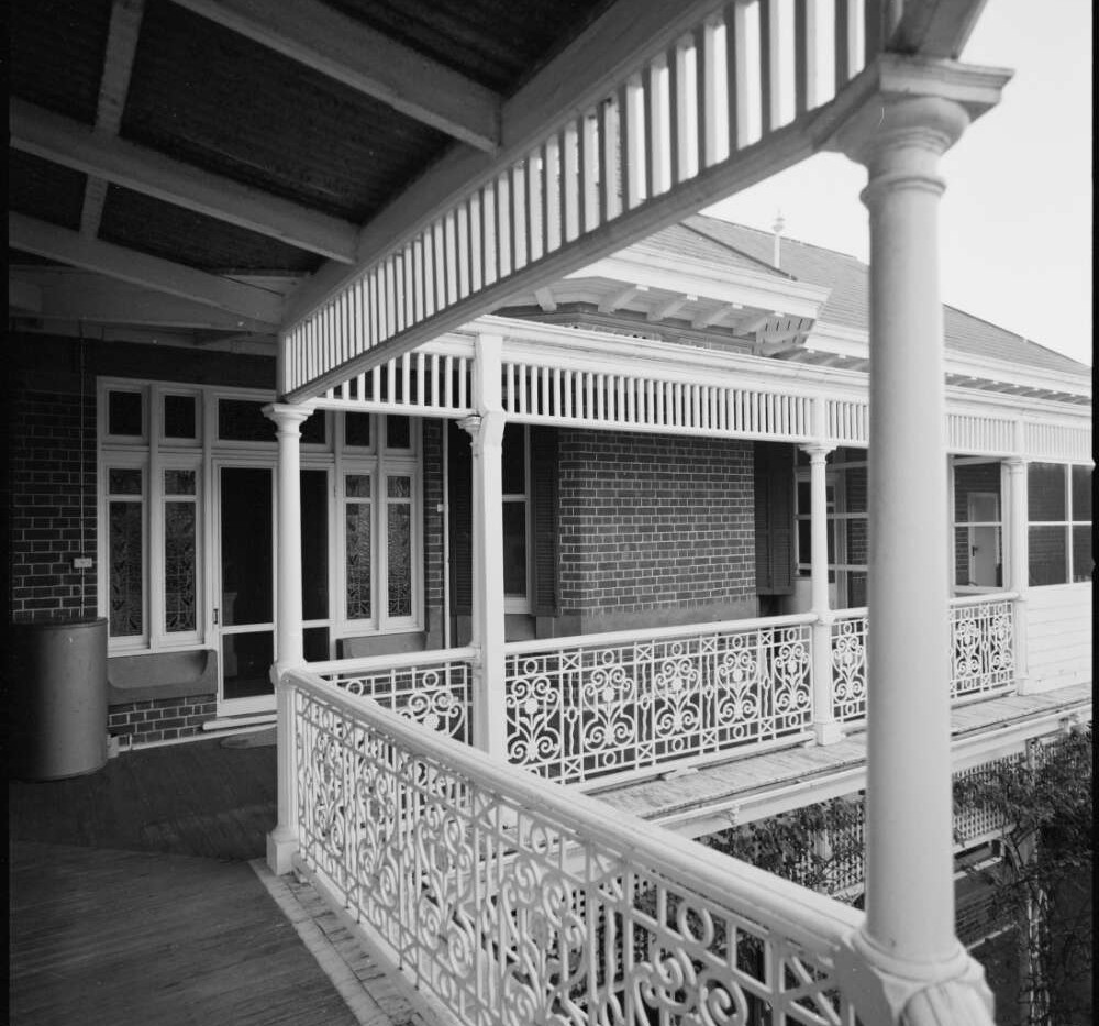 Balustrade of the upper balcony at Bellt