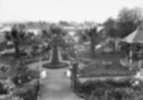Formal Adelaide garden with palm trees b