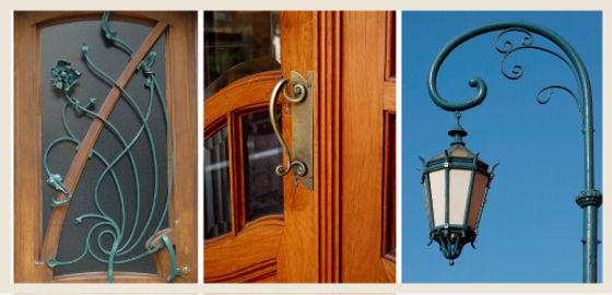 Art Nouveau Organic Shape Details