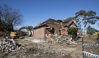 Haberfield house demolished for Westconn