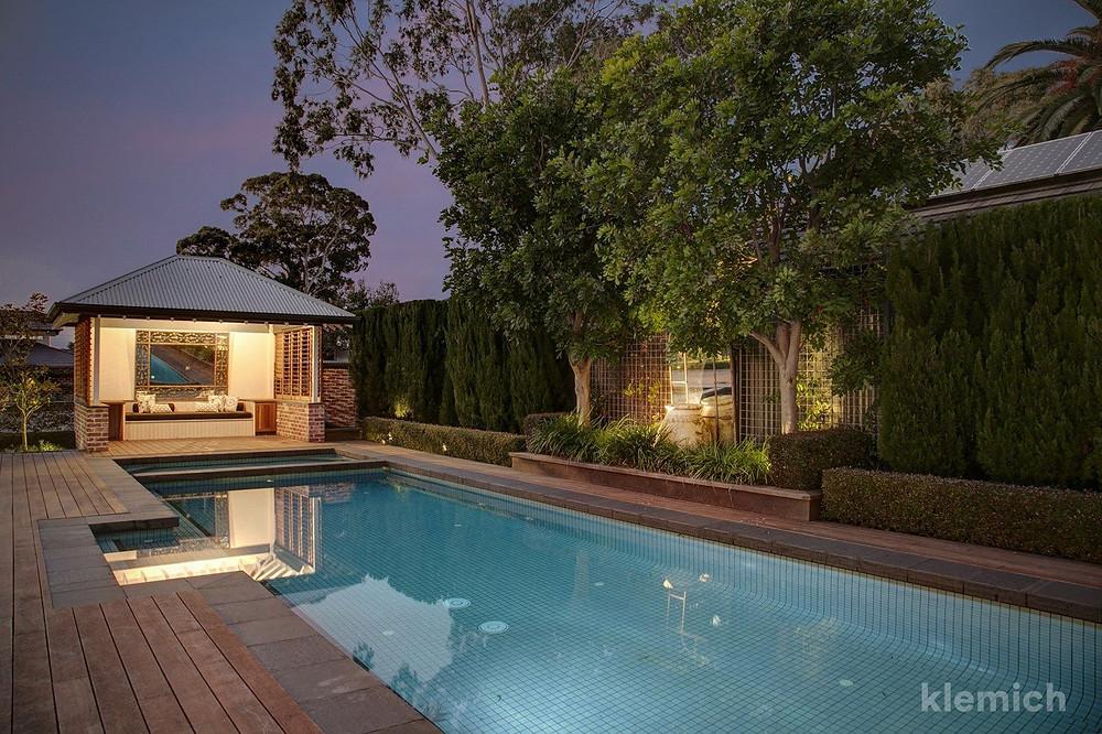 The pool at the rear of 38 East Terrace, Kensington Gardens SA 5068