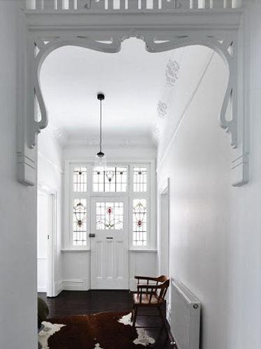 Edwardian Hallway in white