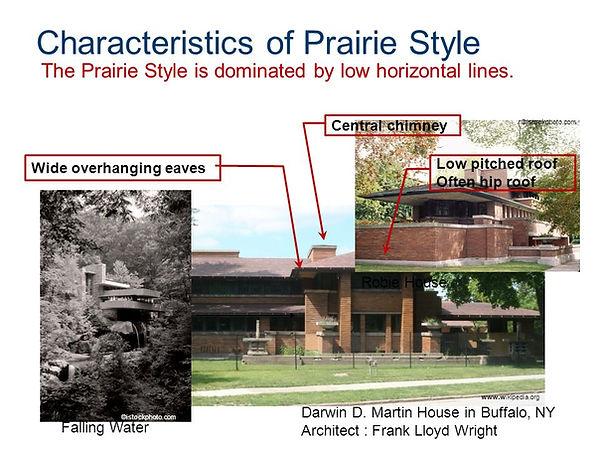 Characteristics of Prairie Style